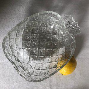 Vintage Glass Large Pineapple Serving Bowl